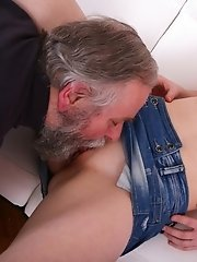 Hardcore sex is always best when you see an older guy doing a young babe like Miriam.  She didn't know sex could be this good until she experienc